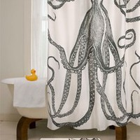 Octopus Shower Curtain | Thomas Paul | Shower Curtain | BurkeDecor.com