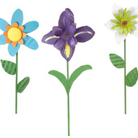 Oversized Tin Flowers - Iris, Lily, Daisy