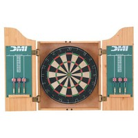 Bristle Dartboard with Wooden Cabinet - CABSETPL