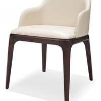 E537Y - Modern Cream Eco-Leather Dining Chair
