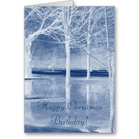 Happy Christmas Birthday Card