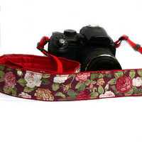 Floral Camera Strap. dSLR Camera Strap. Women accessories