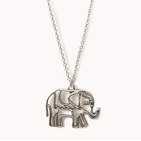 Cutout Elephant Necklace