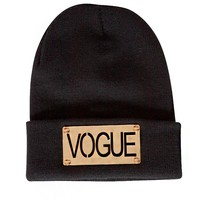 Vogue gold beanie