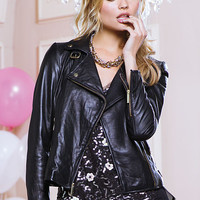 Leather Moto Jacket - Victoria's Secret