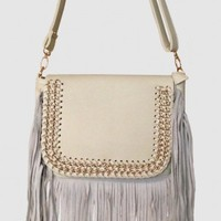 Ivory & Fringe Bag - Accessories | Hoddy Shop