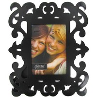 """5"""" x 7"""" Black Decorative Scroll Picture Frame 