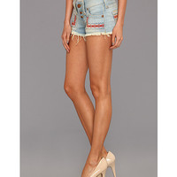True Religion Faye Embroidered Short in Traveller