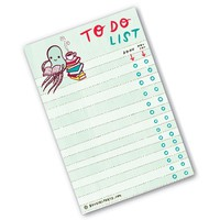 Handmade Gifts | Independent Design | Vintage Goods Readin' Octopus To-Do List - Paper Goods - For The Home