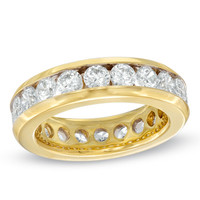 Ladies' 3 CT. T.W. Diamond Eternity Channel Set Wedding Band in 14K Gold