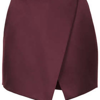 MULBERRY LUXE SATIN WRAP SKORT