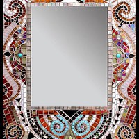 Moulin Rouge by Carl Bryant Sandra Bryant: Tiled Mirror | Artful Home