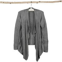 Barefoot Dreams Womens Bamboo Chic Lite One Mile Cardi Pewter