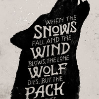 The Pack Survives Art Print by WEAREYAWN