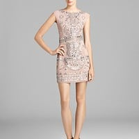 Renzo + Kai Gold Embellished Cap Sleeve Dress - Laura
