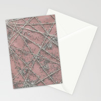 Sparkle Net Pink Stationery Cards by Project M