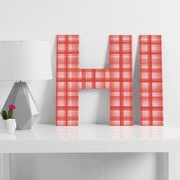 Lisa Argyropoulos Country Plaid Vintage Red Decorative Letters