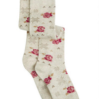 Rose/Argyle Socks