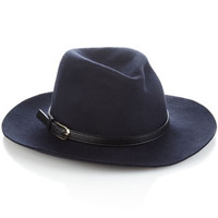 Kate Belted Fedora | Navy | Accessorize
