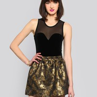 STRUCK GOLD MINI SKIRT