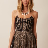 CORSET MINI DRESS