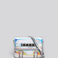 STUDDED HOLOGRAM SATCHEL