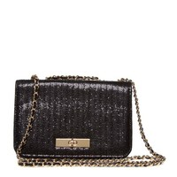 ShoeDazzle Carbon Shoulder Bag