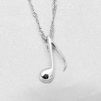 Music Note Pendant, Music Note Necklace, Sterling Silver Necklace, Silver Pendant, Fashion Necklace, Statement Necklace, Everyday Necklace