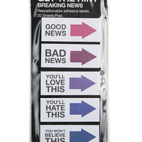 Breaking News Adhesive Tags | Wet Seal