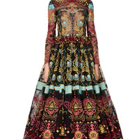 Ornamental Lace Long Sleeve Full Skirt Gown by Valentino for Preorder on Moda Operandi