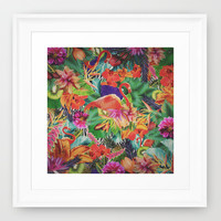 TROPICAL LOVE Framed Art Print by Nika