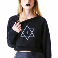 Trippy Cropped Sweatshirt