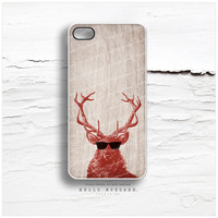iPhone 5 Case Wood Print, iPhone 5s Case Deer, iPhone 4 Case, iPhone 4s Case, Stag iPhone Case, Antlers iPhone Cover N34