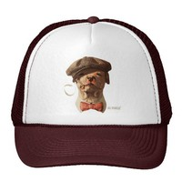 Smoking Bull Dog Trucker Hat