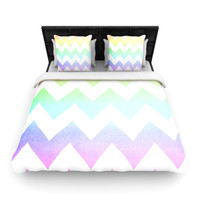 Catherine McDonald WaterColor Chevrons Duvet Cover - BLACK FRIDAY SALE 40% OFF