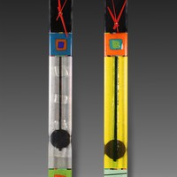 Top Hat Pendulum Clocks by Nina Cambron: Art Glass Clock | Artful Home