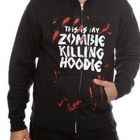 Goodie Two Sleeves Zombie Killing Zip Hoodie 2XL