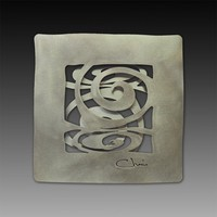 14 Dual Spiral Wall Tile by Cherie Haney: Metal Wall Art | Artful Home