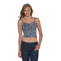 Dream Out Loud by Selena Gomez Junior's Sleeveless Denim Corset Top