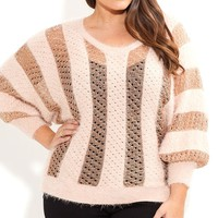 Plus Size Soft V Neck Jumper - City Chic - City Chic