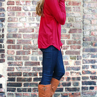 Alicia's Southern Drawl Top - Red