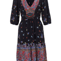 Daria paisley dress | Black | Monsoon