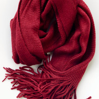 Lipstick Red Scarf