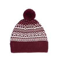 ASOS Bobble Beanie Hat in Jacquard Pattern