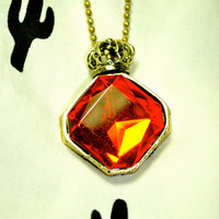 Ruby Crown Necklace
