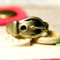 Buckle Me Belt Ring