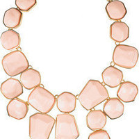 Kenneth Jay Lane | 22-karat gold-plated bib necklace | NET-A-PORTER.COM