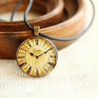 Vintage Clock Necklace