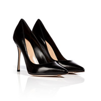 Sergio Rossi - Leather Pointed Toe Pumps