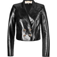 Emilio Pucci - Leather Cropped Blazer